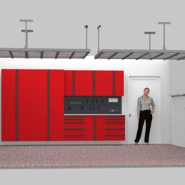 Red Cabinets Garage Naperville